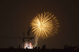 Fire work competition at Knokke.