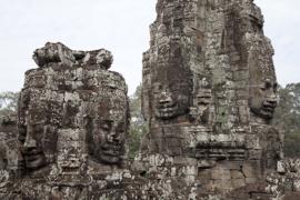 The Bayon Temple at Angkor. V10CAM0031RM