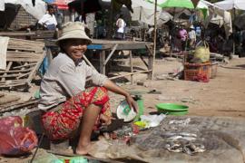 Local market in Cambodia.