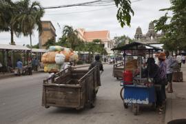 Border Cambodia Thailand at Poipet/Aranya Prathet.