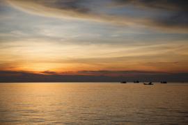 Seaview with sunset at Ko Lipi, Thailand