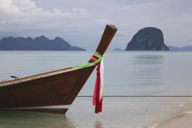 Longtail boat at Ko Ngai.