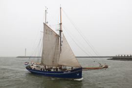 Ostend at anchor 2016. Ostend, Belgium, Europe.