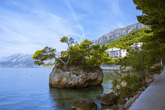 Brela, een pareltje aan de Makarska Rivièra in Kroatië.